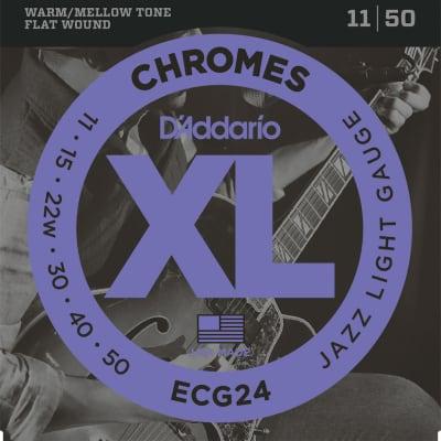D'Addario XL Chromes Flatwound Electric Strings - 11-50