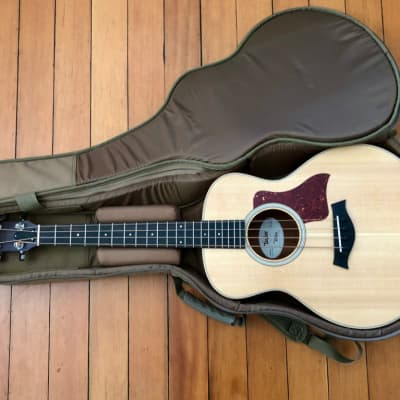 2018 Taylor GS Mini-e Acoustic Bass Natural Spruce Top Sapele Sides, Electronics Padded Gig Bag Case for sale