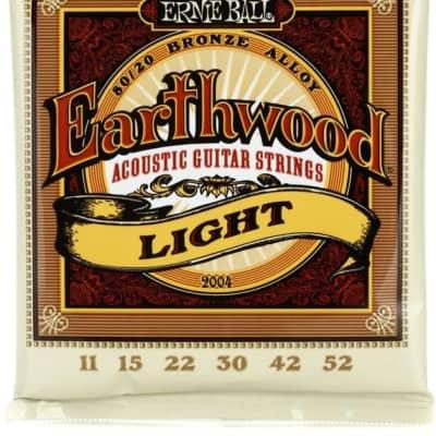 Ernie Ball 2004 Earthwood Light 80/20 Acoustic Guitar Strings, .011 - .052