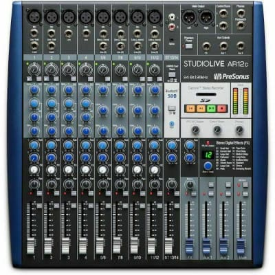 PreSonus StudioLive AR12c 14-Input Mixer / Digital Recorder / Audio Interface
