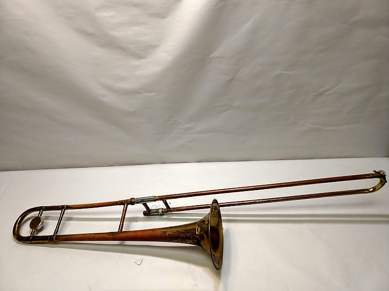 Silvertone Trombone For Parts/Not Working AS IS