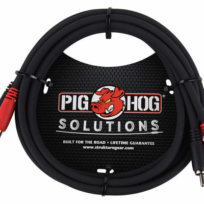 """Pig Hog - PD-R1403 - Dual RCA Male to Dual 1/4"""" Mono Male Cable - 3 ft."""