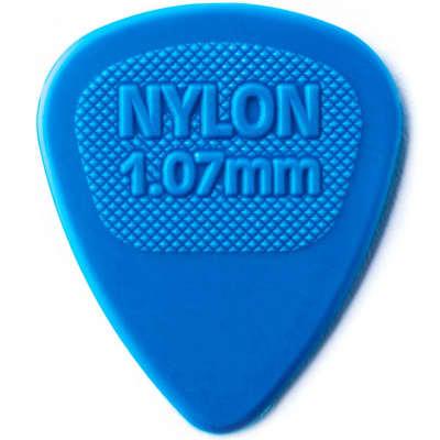 Dunlop 443R107 Nylon MIDI 1.07mm Guitar Picks (72-Pack)