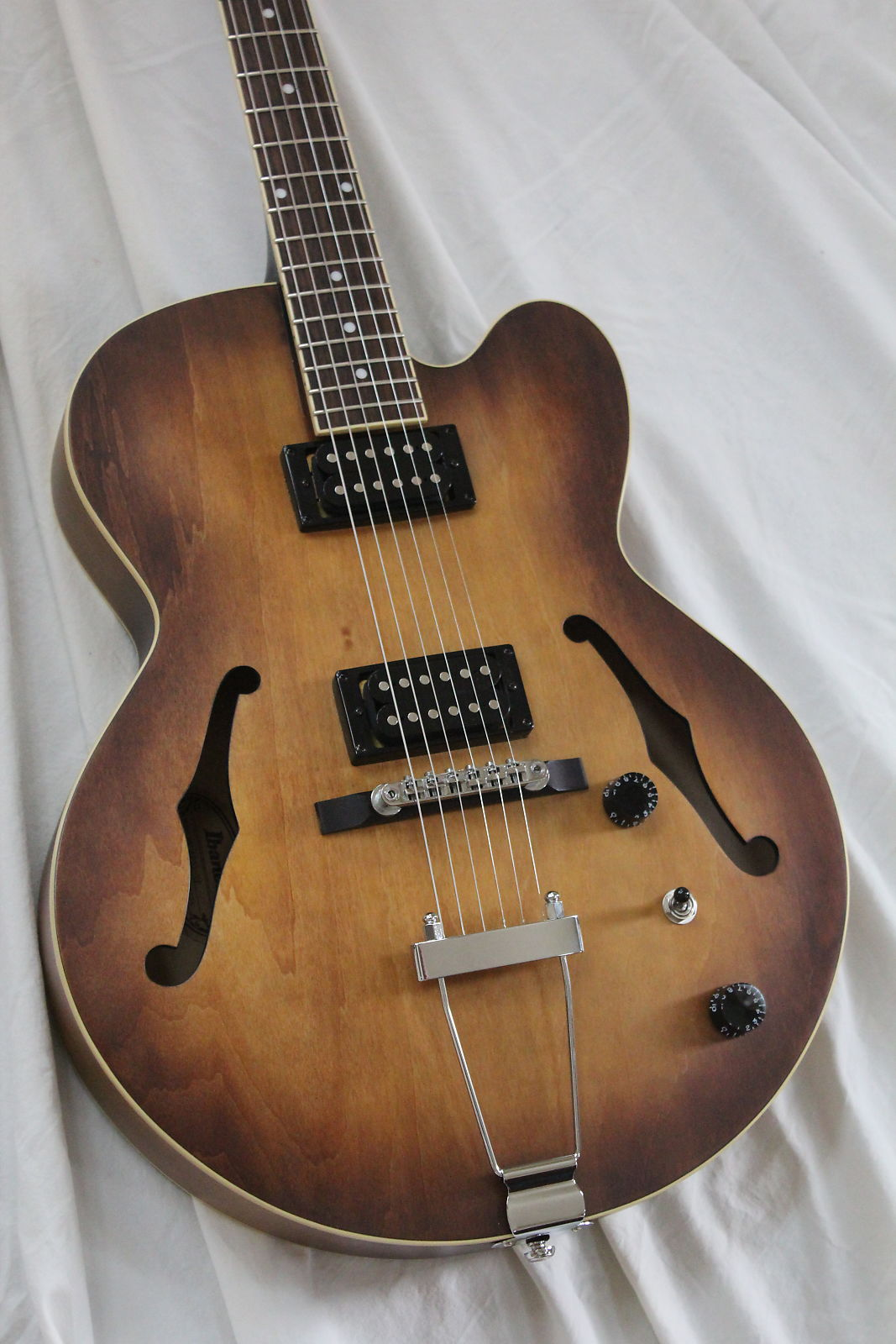 2016 Ibanez Artcore AF55 Hollowbody Electric Guitar - Tobacco Flat Finish