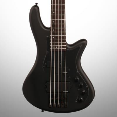 Schecter Stiletto Stealth-5 Electric Bass, 5-String, Satin Black
