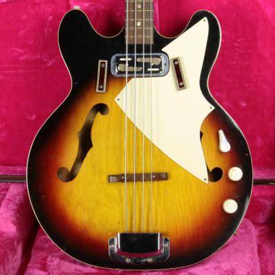 1971 Harmony H22/1 Double Cutaway Electric Bass Sunburst! H-22 1960's 1970's Vintage for sale