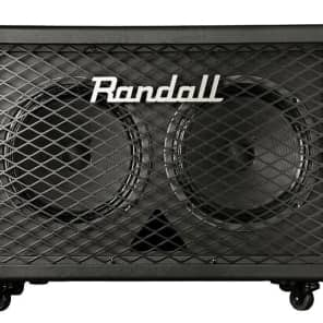 Randall RD212-V30 Diavlo 2x12 Angled Guitar Cabinet - Black for sale