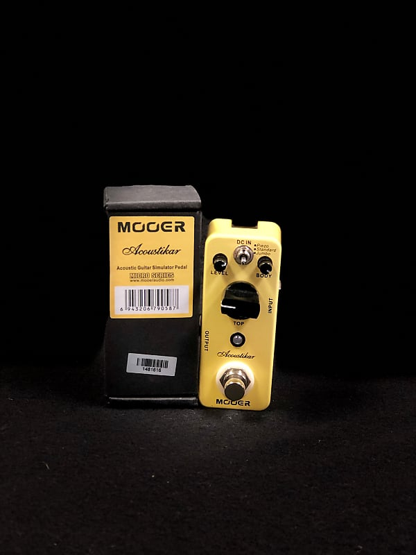 mooer acoustikar acoustic guitar simulator micro pedal reverb. Black Bedroom Furniture Sets. Home Design Ideas