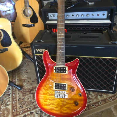 JJ Guitars Retrolux 2005 Cherry burst for sale