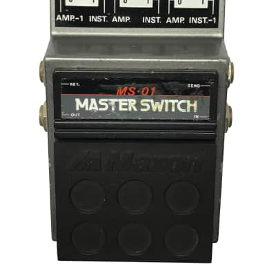 Maxon MS-01, Master Switch, Made In Japan, 1980s, Vintage Guitar Effect Pedal for sale