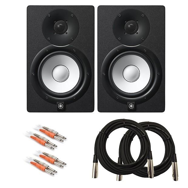 yamaha hs7 6 5 powered studio monitor speaker cable kit. Black Bedroom Furniture Sets. Home Design Ideas