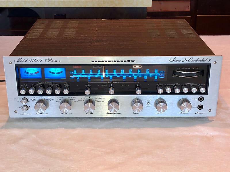 1974 MARANTZ 4230 Stereo 2 + Quadradial 4 Decoder/Encoder Complete  Restoration Sweet