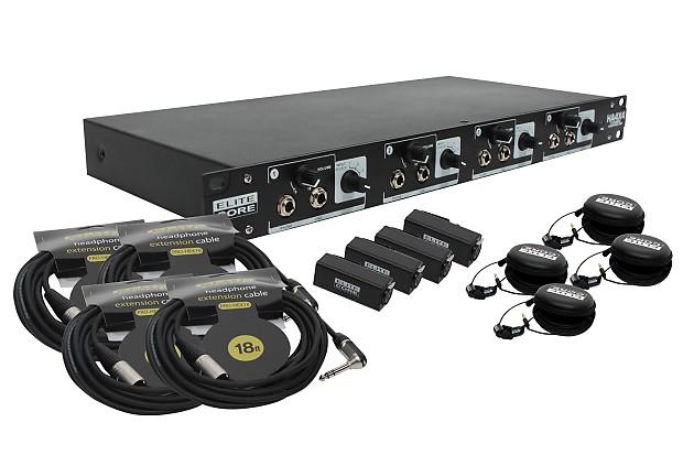 elite core 4 channel headphone line distribution amplifier 4 reverb. Black Bedroom Furniture Sets. Home Design Ideas