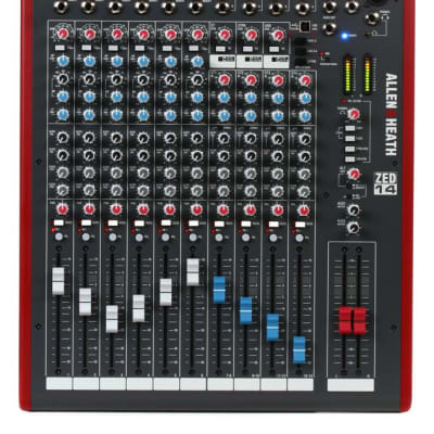 Allen & Heath ZED-14 14-channel Mixer with USB Audio Interface (Open) *Perfect -Free Ship