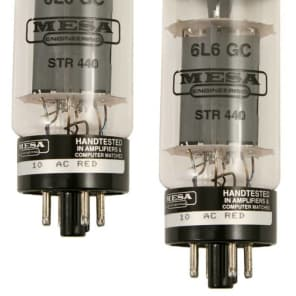 Mesa/Boogie 6L6 STR 440 Replacement Guitar Amplifier Power Tubes Duet (Matched P