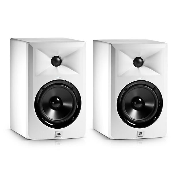jbl 305 white. jbl lsr305 5 inch active studio monitors, white (pair) jbl 305 e