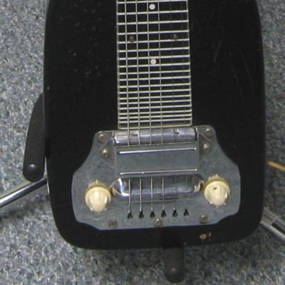 Electromuse Six String Lap Steel with Original Case 40s to 50s Black for sale