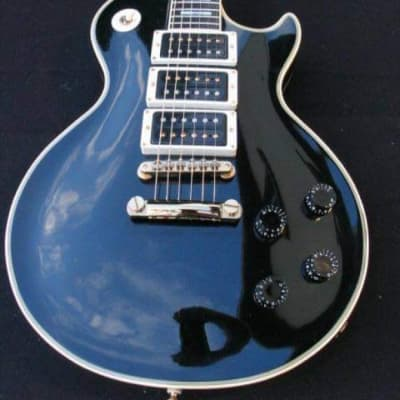 Greco Single Cut Custom Peter Frampton 3Pus 1981 Black And Gold for sale