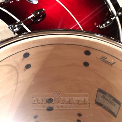 Pearl Masters Maple Complete 3pc Shell Pack w/24bd - Natural Banded Redburst