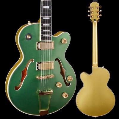 Epiphone Uptown Kat ES, Emerald Green Metallic 323 7lbs 4.6oz for sale