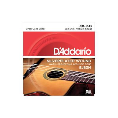 D'Addario Gypsy Jazz Strings EJ83M Silver Wound Medium 11-45