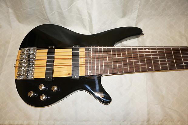 8 string bass guitar neck through body custom made reverb. Black Bedroom Furniture Sets. Home Design Ideas