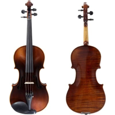 SKY 4/4 SKYVNSK1001 Concerto Series Highly Flamed One Piece Back Solid Wood Hand Carved Violin with