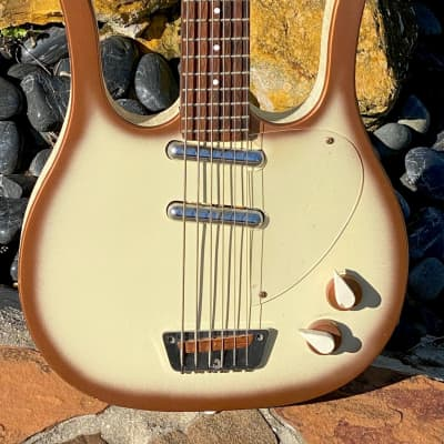 Danelectro Longhorn 6-string Bass 1959 Copper'burst the Cleanest & Rarest all original example ! for sale