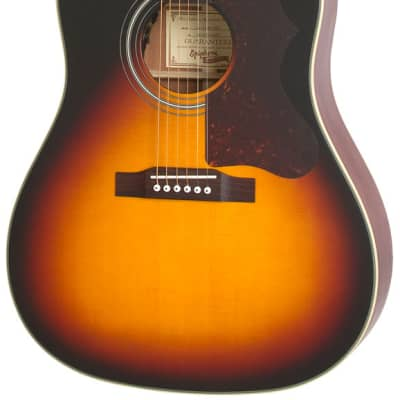 Epiphone Masterbilt AJ-45ME Dreadnought Acoustic-Electric Guitar - Vintage Sunburst Satin for sale