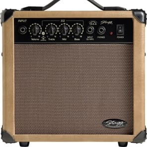 Stagg 10 AA - 10 Watt Acoustic Electric Amplifier - Brown for sale