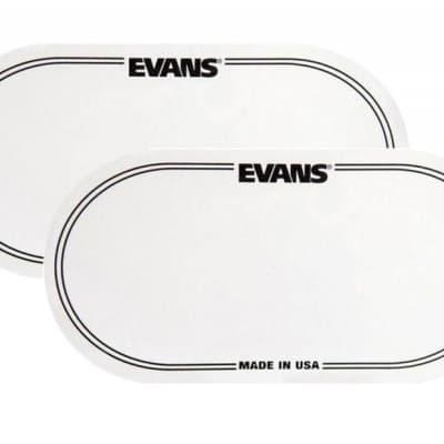 Evans EQ Double Pedal Bass Drum Patch 2pk Clear