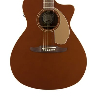Fender Newporter Player Acoustic Guitar, Rustic Copper for sale