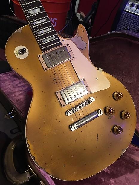Gibson 57 True Historic Relic Les Paul Goldtop Reverb