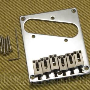 Fender Squier 005-5104-000 Telecaster Tele Bridge Chrome Square Saddles