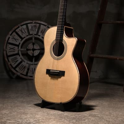 Bentivoglio Jang BeomJune 1503c OM Cutaway All Solid Spruce Richlite Bevel JBJ for sale