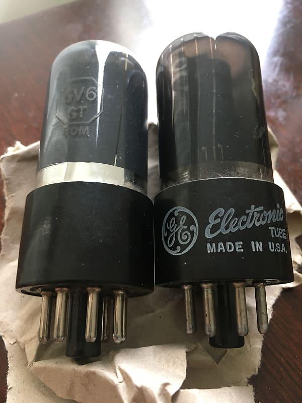 2x 6V6gt tubes - 6v6 -tested - juke ham radio - vacuum valve vintage HIFI  audio - 6K6