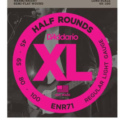 D'Addario ENR71 Half Rounds Regular Light Bass Strings 45-100