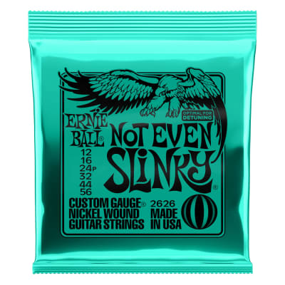 Ernie Ball 2626 Not Even Slinky Nickel Wound Electric Guitar Strings - .012-.056 for sale