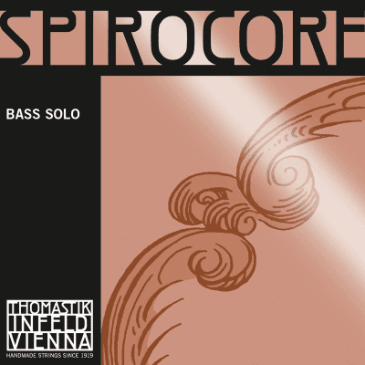 Thomastik-Infeld S40S Spirocore Chrome Wound Spiral Core 4/4 Double Bass Solo String - C (Heavy)