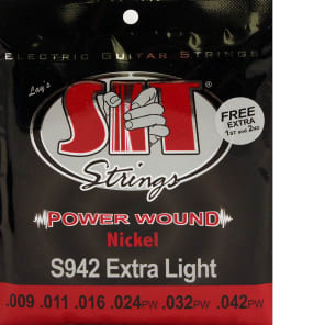 SIT S942 Power Wound Electric Guitar Strings - Extra Light (9-42)