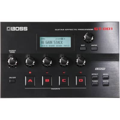 BOSS GT-001 Table Top Guitar Amp Modeling Effects Processor USB Audio Interface for sale