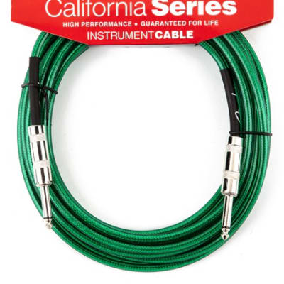 Fender® California Instrument Cable, 20', Surf Green for sale