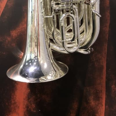 WESSEX Travel Tuba (tornister tuba) 'Mighty Midget' – TB160 Silver (S59)