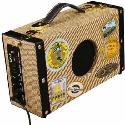 Luna Vintage Style Tweed AG 5 Acoustic Electric guitar Battery Powered Amplifier for sale