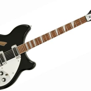 Rickenbacker 12 String Stereo Deluxe Electric Guitar Thinline, Semi-acoustic Hollow Body, W/Case (360/12 Jet Glo) for sale