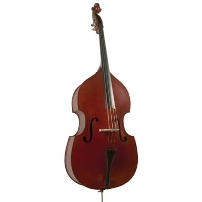 New Palatino VB-004 Crack-Resistant Upright Bass with Padded Bag, 1/8 Size