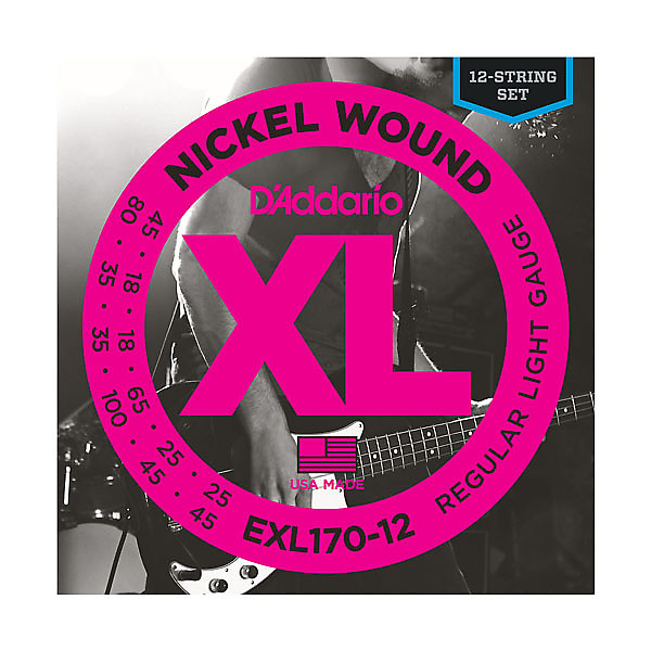d 39 addario exl170 12 nickel round wound electric bass reverb. Black Bedroom Furniture Sets. Home Design Ideas