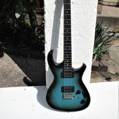 Aria Pro II RS Inazuma V Guitar, 1983,  Japan,  Matsumoku , Maxon MMK 45 PU's,  Blueburst,  Cool for sale