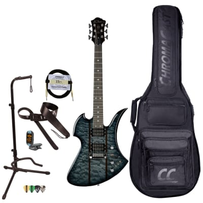 BC Rich Guitars Mockingbird Legacy STQ Hardtail Electric Guitar with Case, Strap, and Stand, Black Burst for sale