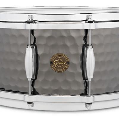 Gretsch 6.5x14 Hammered Black Steel Snare Drum